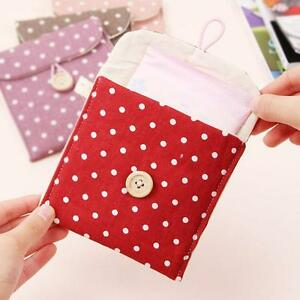 Female-Girl-Hygiene-Sanitary-Napkins-Small-Cotton-Storage-Bag-Case-Dainty-Red-HC