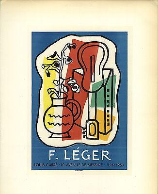 1959 Mini Poster Lithograph ORIGINAL Print Joan Miro Galerie Matarasso Nice