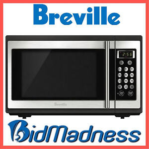 Image Is Loading Breville 34l 1100w Stainless Steel Microwave 34