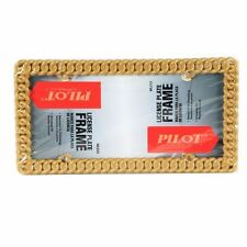 Pilot Gold Color Metal Chain License Plate Frame