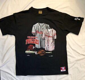 2caea5ca Image is loading Vintage-90-s-Philadelphia-Phillies-T-Shirt-Single-