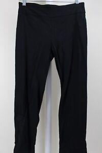New-York-amp-Company-Rayon-amp-Nylon-Blend-Black-Ankle-Length-Straight-Leg-Pants-S
