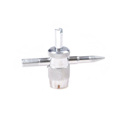 Car Truck Bike 4-WAY  Tire Valve Accessory  Repair Tool with 4 Valve Cores YH
