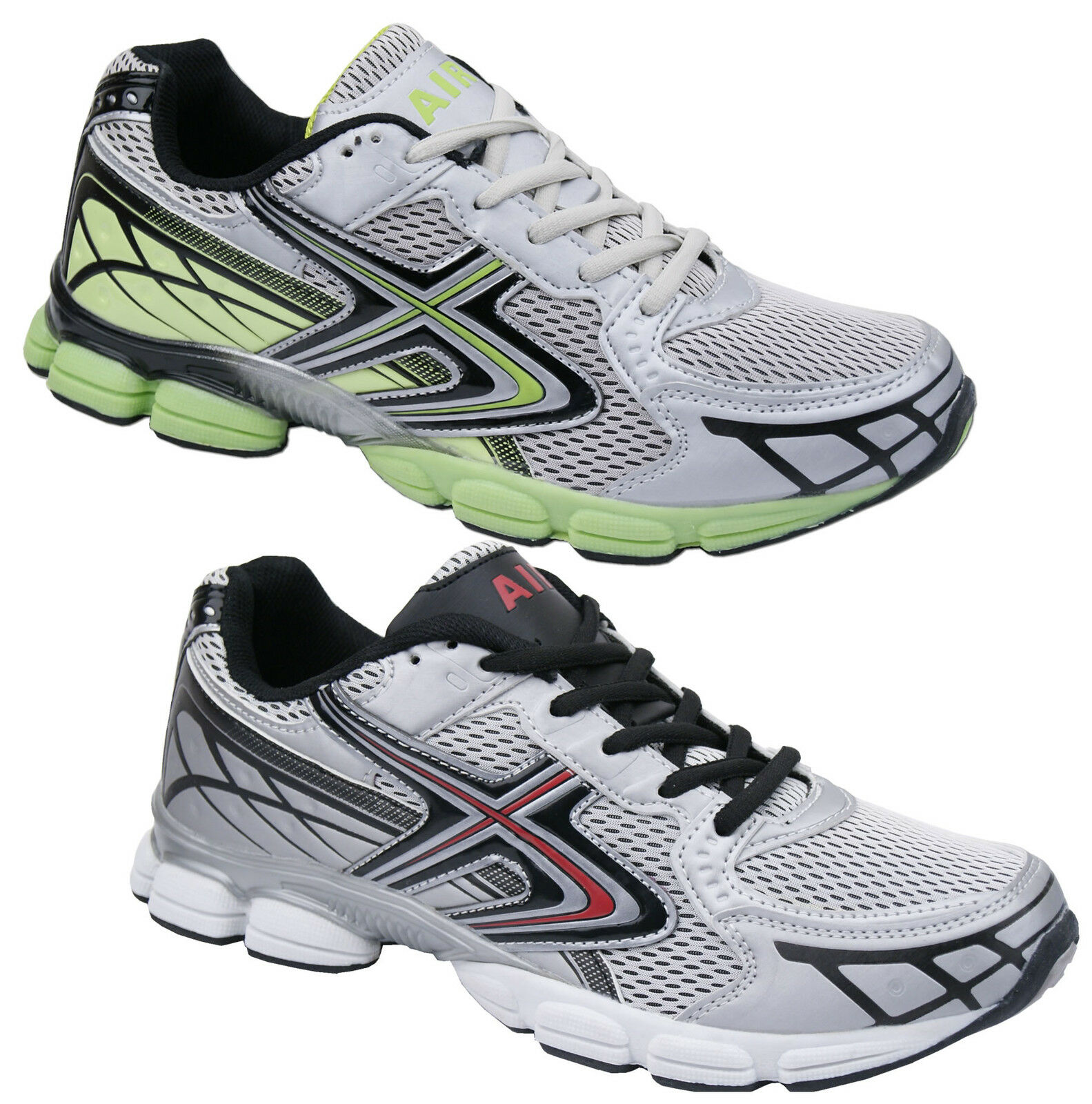 Mens New Lace Up Sports Jogging Gym Running Air Trainers Free UK Postage