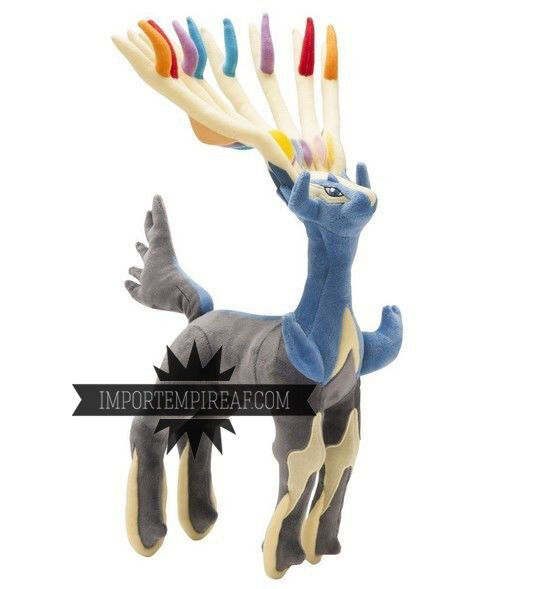 POKEMON XERNEAS PELUCHE GRANDE 40 CM x y center pupazzo 716 YVELTAL plush 3ds