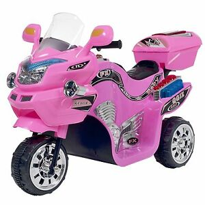 Lil Rider Princess Pink FX Motorcycle Battery Operated Tricycle