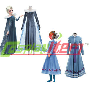 2017 New Olaf's Frozen Adventure Elsa Dress Cosplay Costume Anna