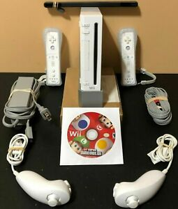 Nintendo-Wii-White-Console-RVL-001-Super-Mario-Bros-Bundle-Tested-Working