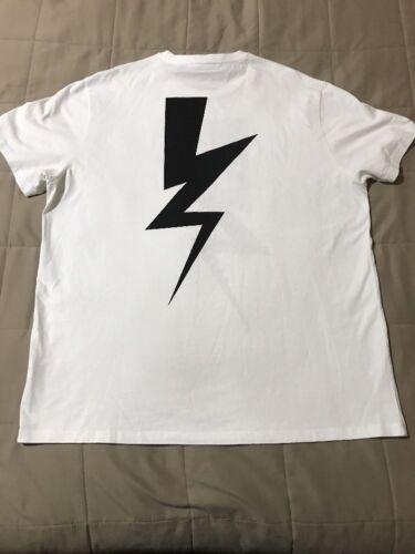 Xl shirt grafische T Barrett Thunderbolt zwart korte Print wit mouw Neil dtSvRnqRx