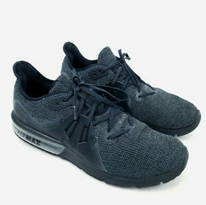 Nike-Air-Max-Sequent-3-Mens-Running-Shoes-Black-Anthracite-921694-010-Size-10-5