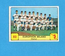CAMPIONI d. SPORT 1968/69-PANINI-Figurina n.83- EUROPHON MILANO -Rec