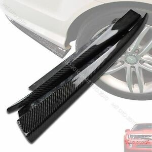 Carbon For Mercedes Benz C204 COUPE C-Class Rear Side Skirt Bumper Extensions§