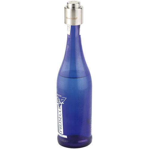 Verschluss für Sekt-und Champagnerflaschen aus gebürstetem Stahl Sektverschluss