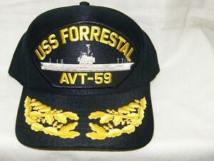 142f34d80d93c États-unis Marine Casquette Original Uss Forrestal Fabriqué aux ...