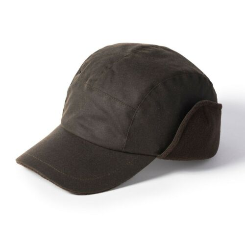 Failsworth Lumber Wax Earflap Baseball Cap Black or Olive Sized
