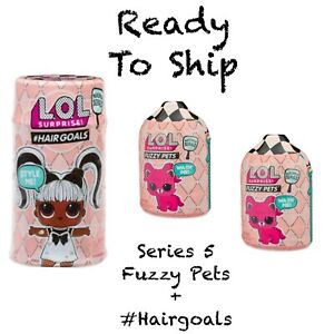 LOL-SURPRISE-Fuzzy-Pets-Hairgoals-MAKEOVER-SERIES-5-Auth-NEW-X3-In-Hand