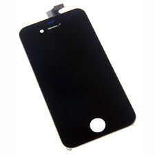 Black Digitizer Front Glass LCD Screen Full Assembly for GSM AT&T iPhone 4 4G