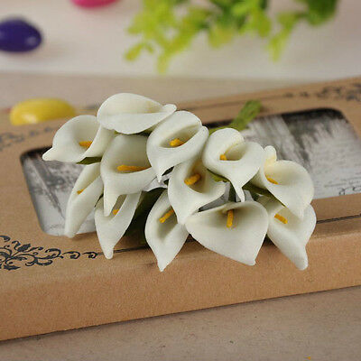 Calla Lily Ivory Artificial Foam Roses Flowers Wedding Home Dried Flowers