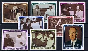 Guinée Minr 835 - 842 Coupé Sans Prix Cotation Tamponné **