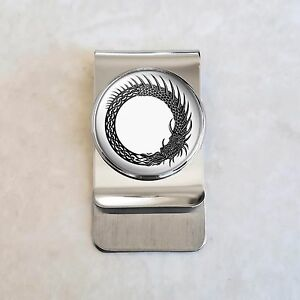 67c2f4717092 Image is loading Ouroboros-Norse-Dragon-Serpent-Stainless-Steel-Money-Clip