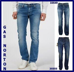 jeans-da-uomo-gas-norton-denim-a-gamba-dritta-vita-bassa-svasati-w28-w29-w30-w31