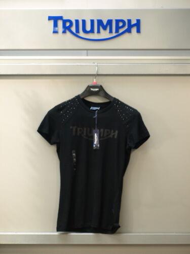 Genuine Triumph Donna Gioiello /& LOGO T shirt NUOVA con etichetta 95/% RRP XS//XXS