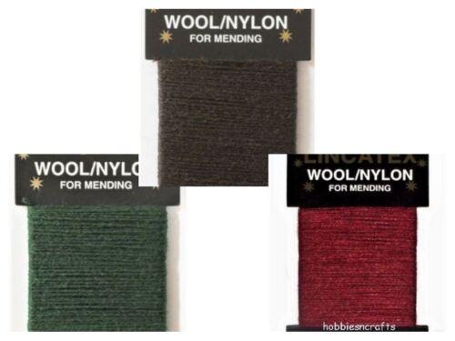 Lincatex Thread pour à repriser /& réparation 30/% laine 70/% nylon 10 mètres beaucoup de couleurs
