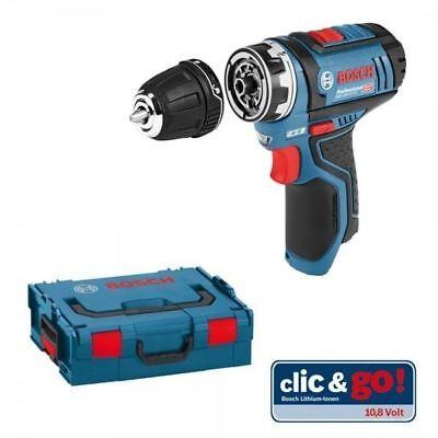 Bosch GSR 12V-15 FC Flexi-Click Drill Driver bare unit in L-BOXX - 06019F6002
