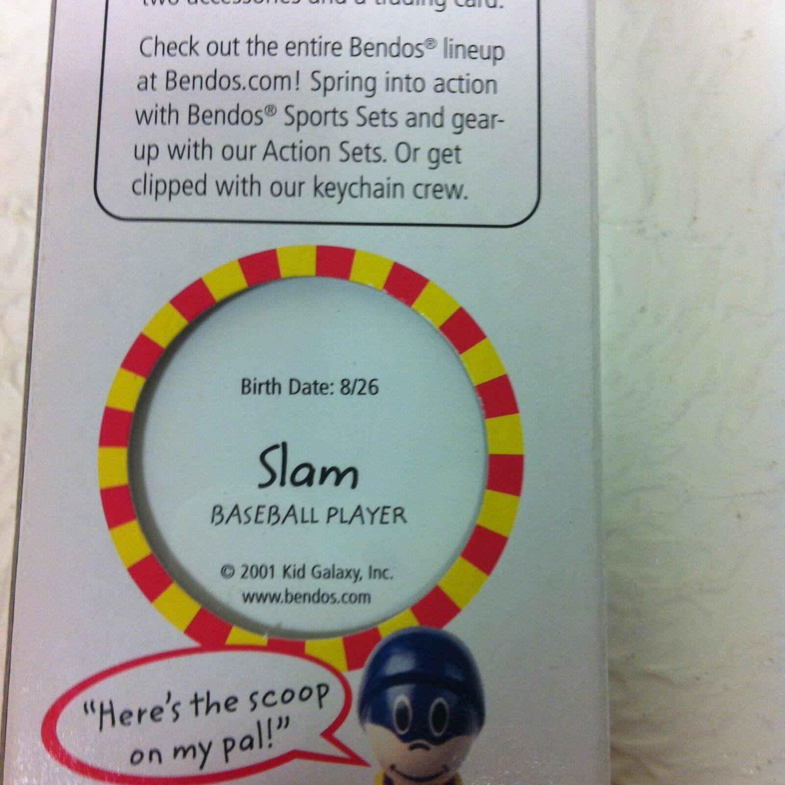 BENDOS SLAM BASEBALL PLAYER 2001 KID GALAXY ACTION FIGURE BRAND NEW IN BOX