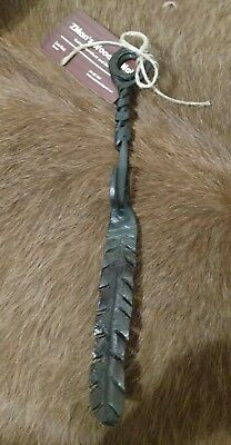 Hand Forged Feather Hook
