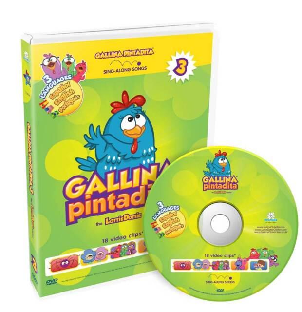 Lottie Dottie Chicken DVD Vol. 3 Trilingual (English, Spanish and Portuguese)
