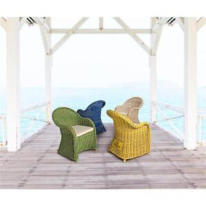 Sedie Da Esterno Colorate.Poltrona Sedia Vimini Poli Rattan Da Giardino Esterno Colorato