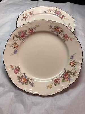 E520 Set of 5 Vintage Plaid Homer Laughlin Bread /& Butter Plates