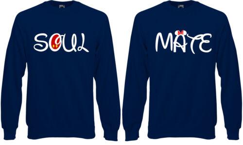 Soul Mate Disney Mickey Minnie Mouse Couple Jumper Sweatshirt Sweat Top AC01