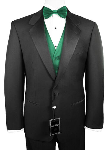 Sizes 38-64 X-Long 6-Piece Formal Tuxedo Package with Green Vest /& Bow-Tie