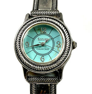 ECCLISSI STERLING SILVER TURQUOISE WOMENS WATCH, 23110, HALLMARKED & BEAUTIFUL
