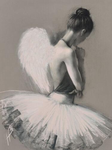 3 sizes Hazel Bowman Angel Wings II 4cm deep Canvas Print Wall Art