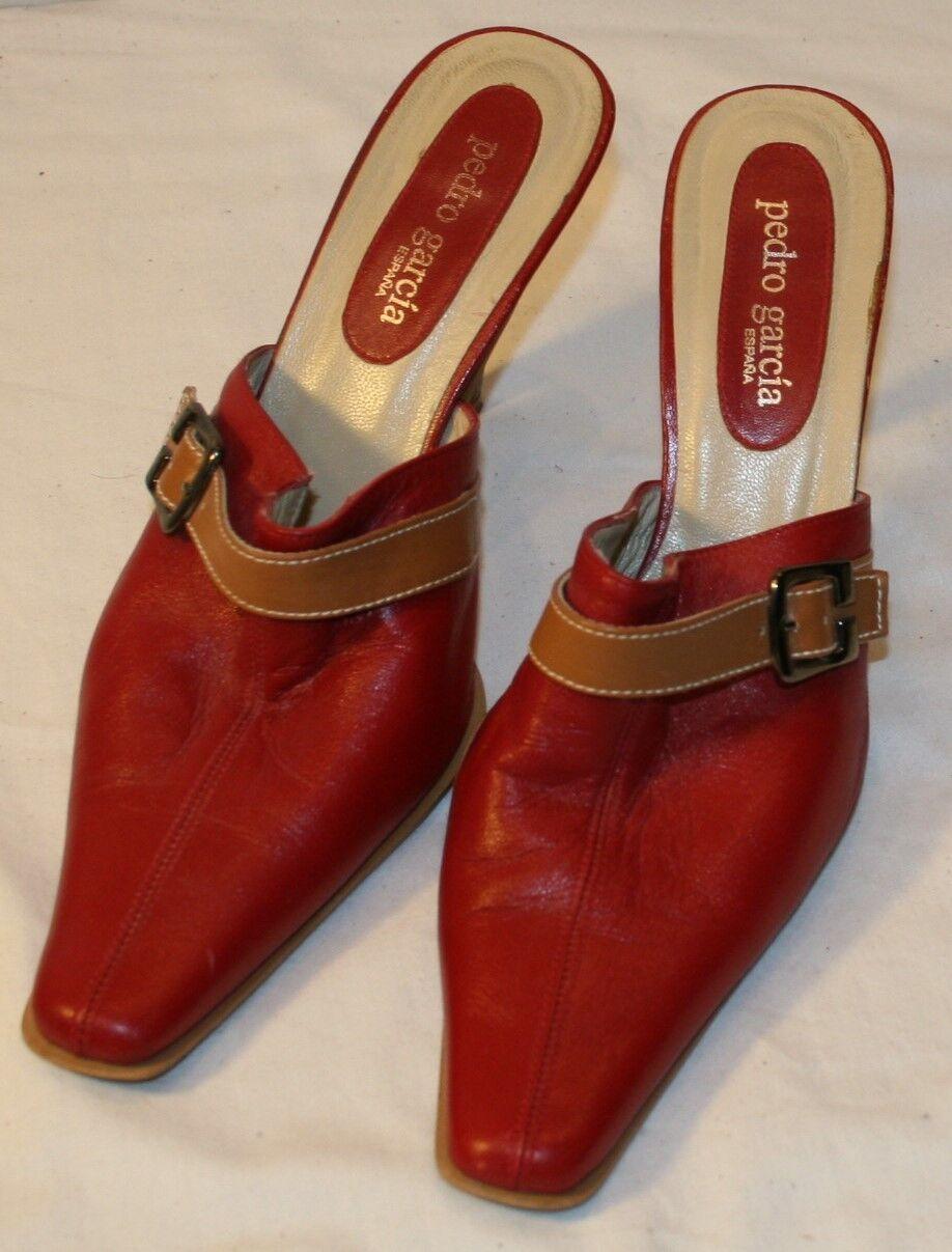 Pedro Garcia Dunkelrot Ferse 9B 9 B Damen Schuhe Pumps Schnalle ohne Bügel
