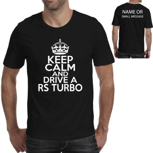 Keep calm and drive a Rs Turbo car Ideal Birthday Gift Fathers Day T-Shirt