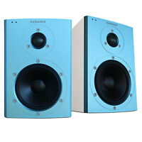 Dynaudio Xeo 2 Wireless Bookshelf Speakers, Limited Edition - Pair (blue/white) on sale