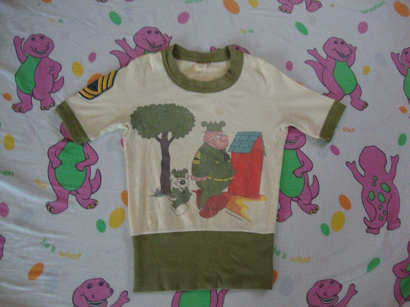 Vintage 60's Sarge and Otto from BEETLE BAILEY Comic Book Rare T Shirt XS
