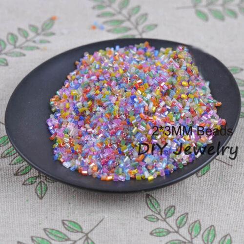Wholesale Lot 1000pcs 2*3mm Tube DIY Czech Glass Seed beads Jewelry Making Craft