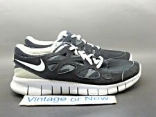 item 5 Women s Nike Free Run+ 2 Black White Anthracite Running Shoes 443816-001  sz 8.5 -Women s Nike Free Run+ 2 Black White Anthracite Running Shoes ... b5a629950