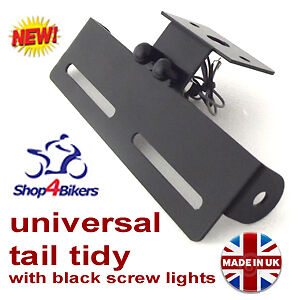 Motorcycle-Universal-tail-tidy-number-plate-holder-rsend-led-screw-light-TT1
