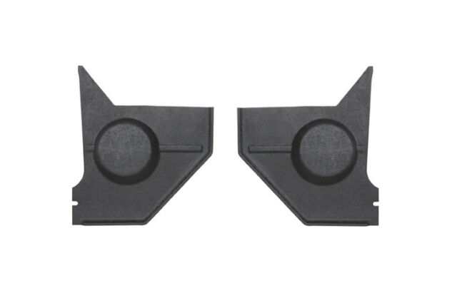1967-1968 Ford Mustang Coupe Speaker Kick Panels Cut To Fit Black