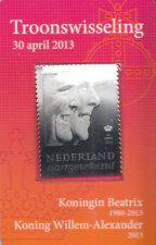 Netherlands Nederland 2013 MNH 3D Silver Stamp Beatrix King Willem-Alexander
