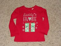Girls 'childrens Place' Red Long Sleeve ''daddy's Favorite Tee Size 4t