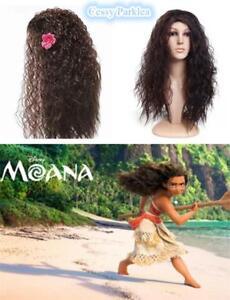Girls-amp-Ladies-Moana-Wig-Cosplay-Hawaiian-Princess-Fancy-Dress-Costume-Accessory