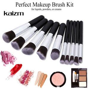 10pcs Foundation Face Eyeshadow Lip Brushes Cosmetic Makeup Brush Tool Set US