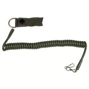 Sicherheitsband-fuer-Pistole-oliv-mit-Karabiner-Befestigung